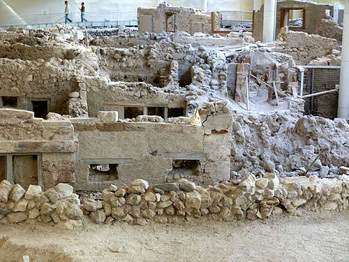 Akrotiri excavations