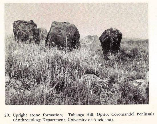 Cercles menhirs nzelande