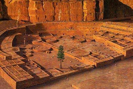 Chaco canyon pueblo bonito digital reconstruction