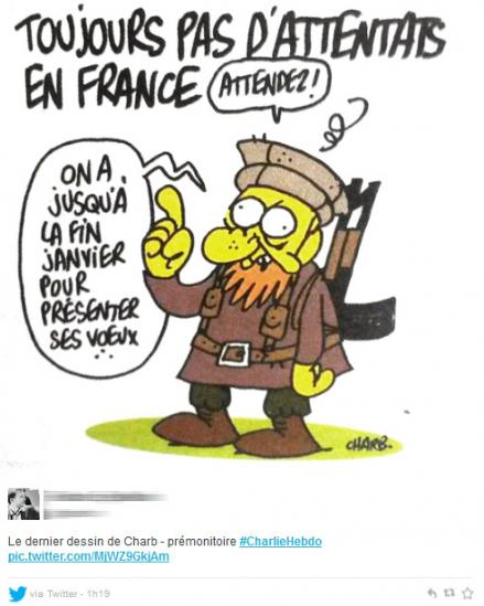 Charb premonition hommage