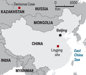 China cave map