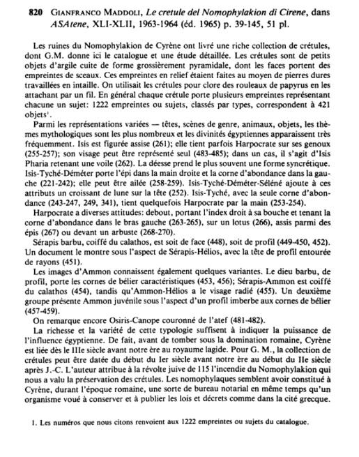 Cretulesegyptiennes gmaddoli 1965a