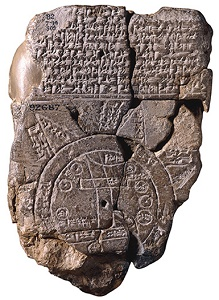 Cuneiform sippar map tablet mini