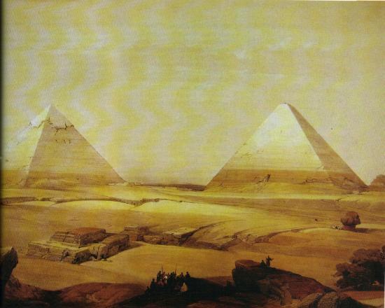 Davidroberts 1838 cheops chepren sphinx