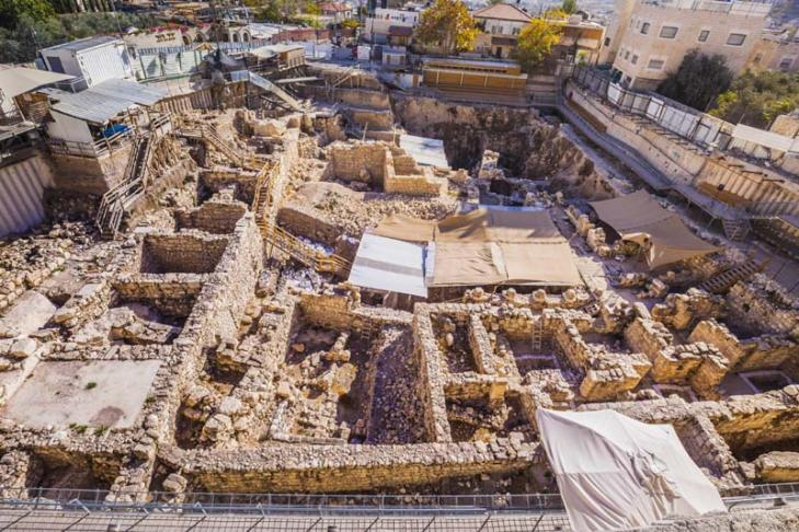 Givati parking lot excavations in the city of david