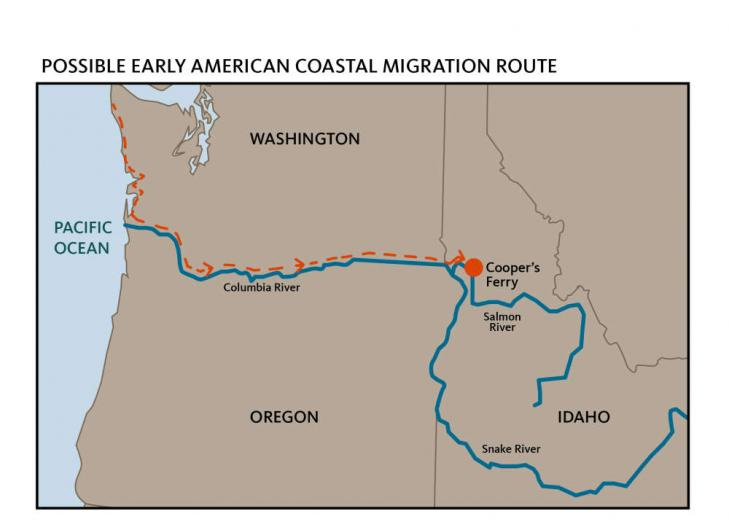 Idaho migration route