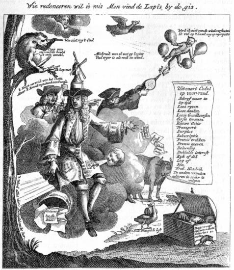 John law dessin caricatural 1720