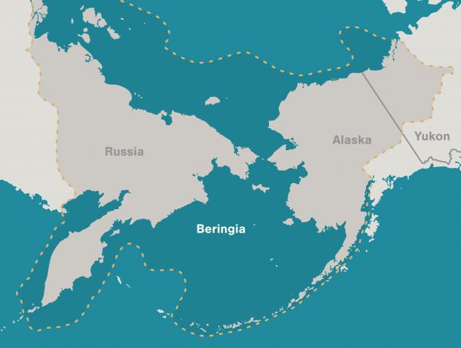 Map beringia