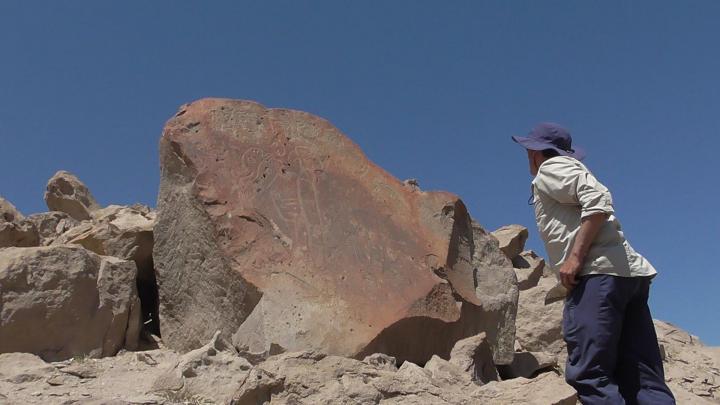 Nasca lapalpa petroglyphes