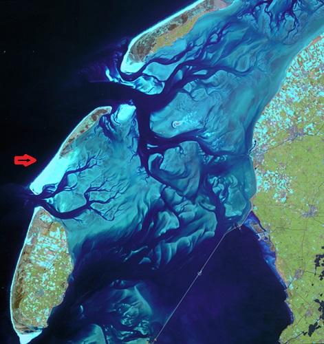Netherlands wadden see satellite 1