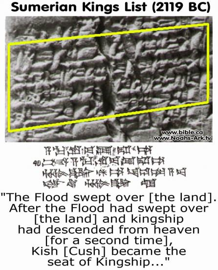 Noahs ark flood creation stories myths sumerian kings list cuneiform tablet kish cush utu hegal of uruk close up 2119bc