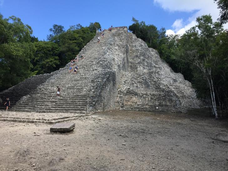 Nohoch mul pyramid mexico