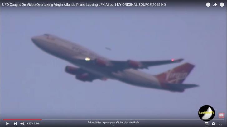 Ovni ufo depassant un avion jfknyork 4 8 2015c