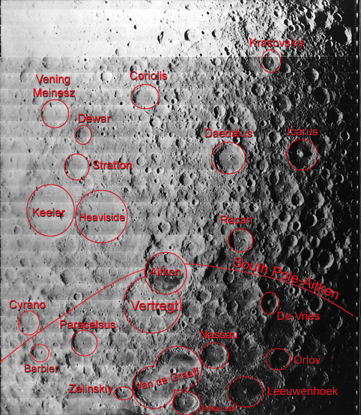 Paracelsus c is a satellite crater of paracelsus located in the aitken basin on the far