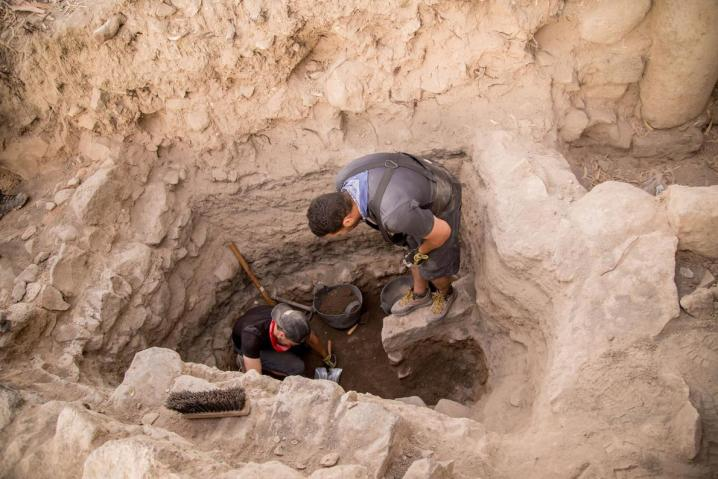 Premiers niveaux romains sur le site