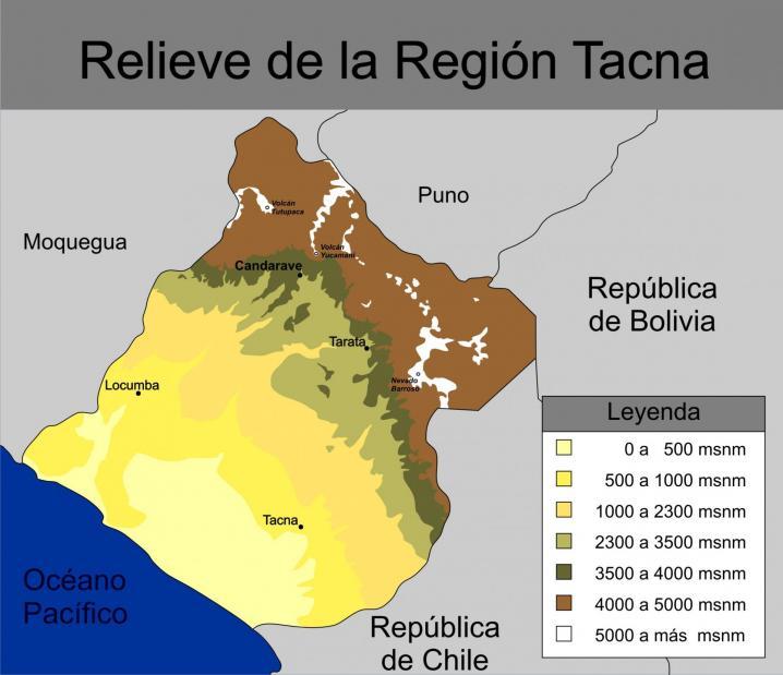 Relieve region tacna