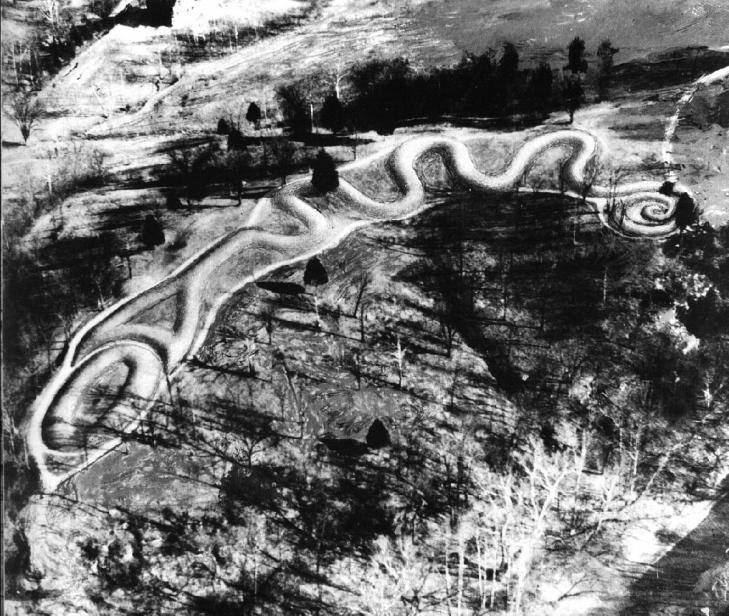 Serpent mound terrassenonrestauree oeuf