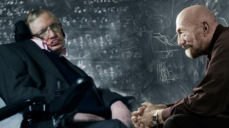 Stephen hawking et son collegue kip thorne
