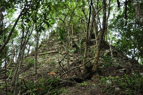 Temple pyramid mayan city lagunita