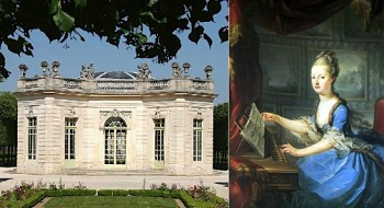 The french pavilion in the gardens of the petit trianon and marie antoinette