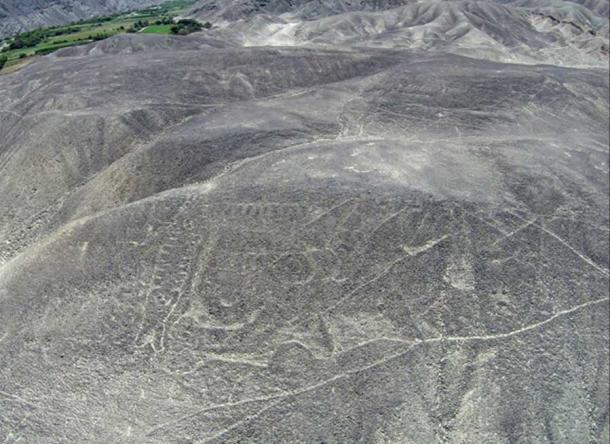 The petroglyph before restoration