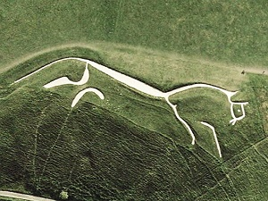 Uffington white horse sat mini