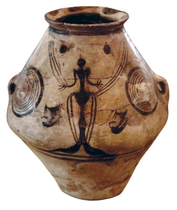 Vase neolithique detoure
