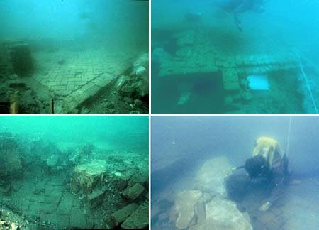 underwater city of Mahabalipuram off the coast of India