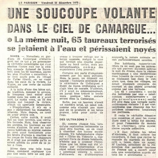 31 12 1973 ovni camargues