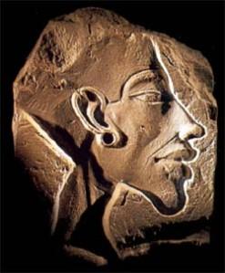 Akhenaton sculpture au nord est d amarn