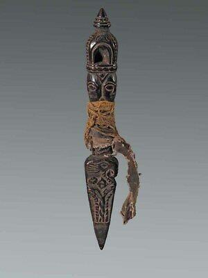 Ancien baton rituel de chamane phurbu himalaya nepal