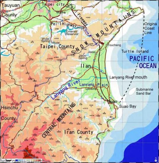 Ancien littoral de taiwan