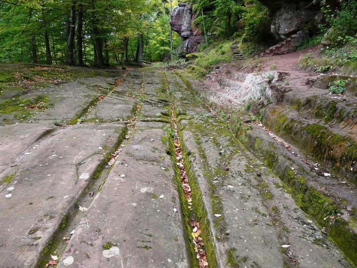Ancienne voie romaine salerne alsace 1024