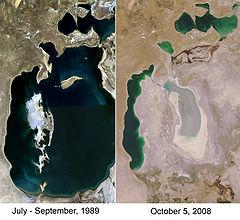 Aral sea 1989 2008