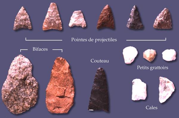 Artefacts premiers arrivants