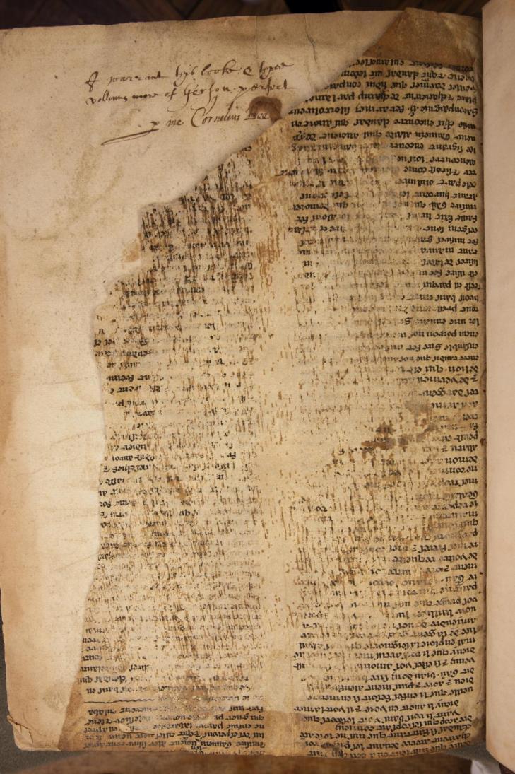 Bristol manuscript fra 1a