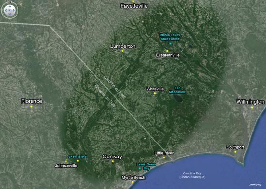 Carolina bay map