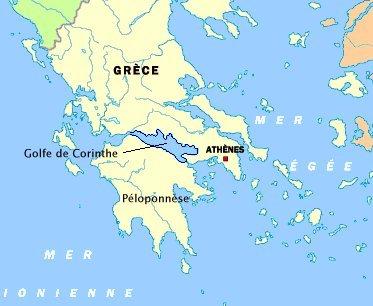 Carte grece golfecorinthe
