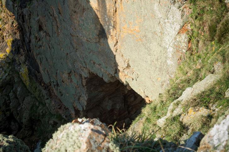 Cave at la cotte jersey