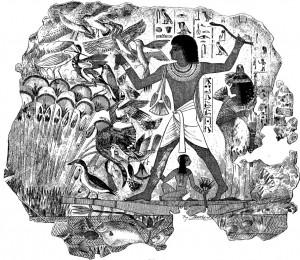 Chasse au baton egypte