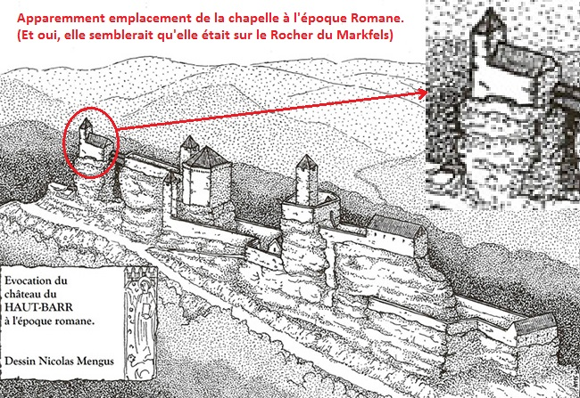 Chateau haut barr la chapelle detruite
