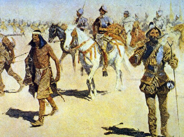 Coronado expedition peinture 1898 remington