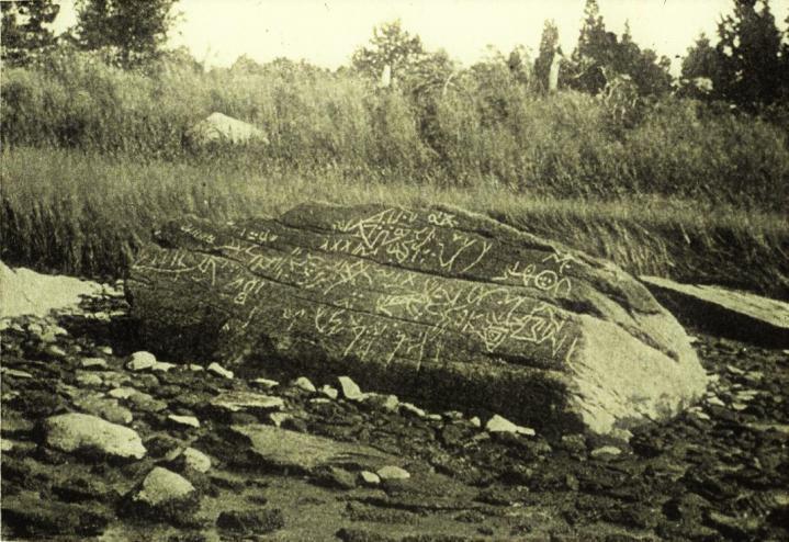 Dighton rock davis photograph