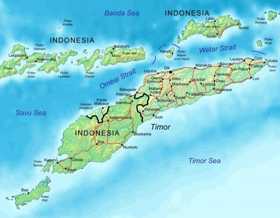 East timor map