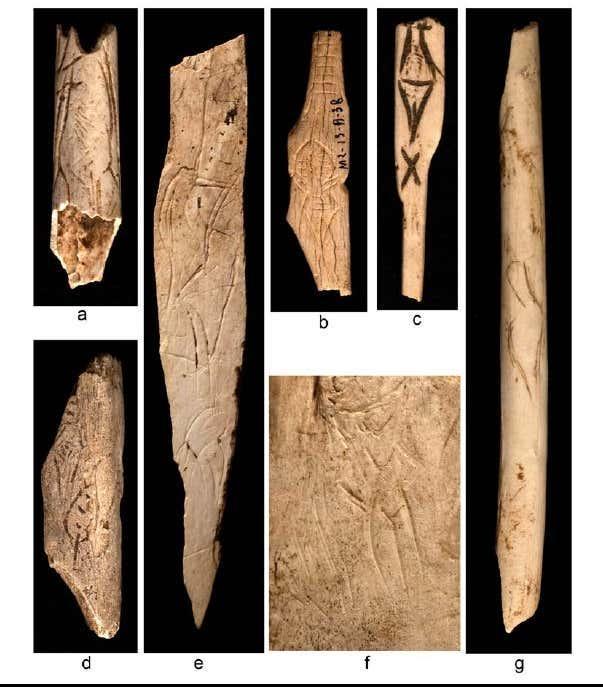 Figure 17 representations feminines schematiques de rochereil musee national deprehistoire