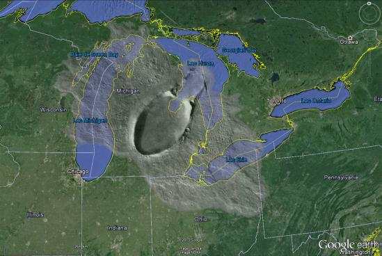 Google earth saginaw crater