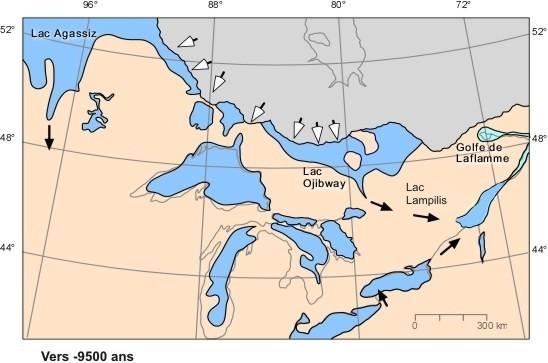 Grands lacs datations 10000 9500ans
