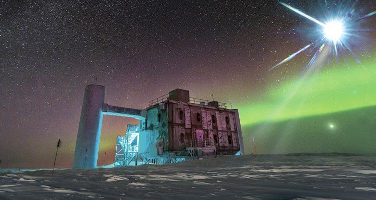 Icecube neutrino observatory decouverte particules inexpliquables 2020 750x400