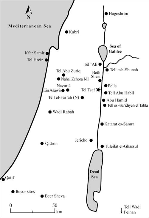 Jourdan tel tsaf map