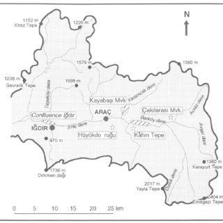 Kahin tepe reperage de sites dans le haut bassin de larac cayi ete 1996